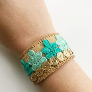 Check out this beautiful Embroidered Cuff Bracelet!