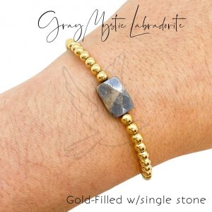 Bracelet   Gray Mystic Labradorite