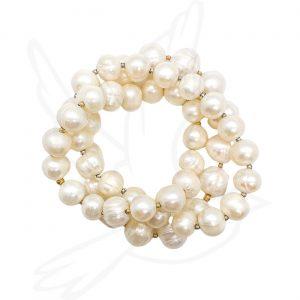 Bracelet   12mm White Fresh Water Pearl