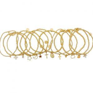 Bracelet | GF Open Flower/ Clover Charm