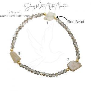 Bracelet | Shiny White Mystic Moonstone