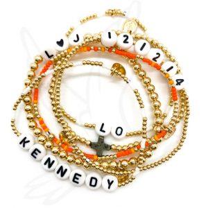 Bracelet   Shades of Orange (Awareness)